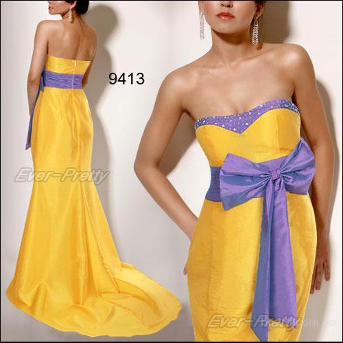 вечернее платье с лиловым бантом HE09413YL