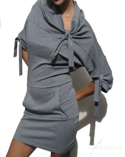 21. платье из французского трикотажа, размер 44, цвет серый.