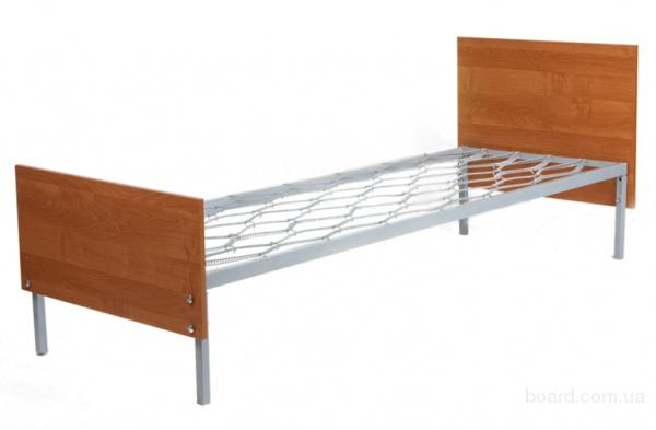 Кровать металлическая одноярусная КМ8.