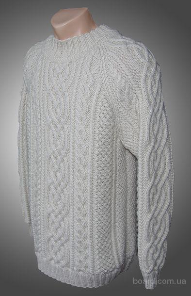 вязание мужских свитеров ирландской вязкой - Сумки.
