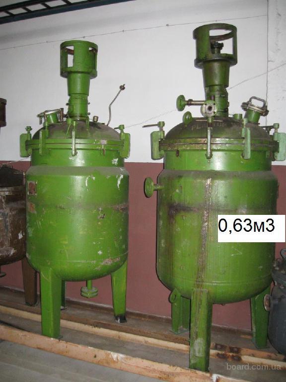 Реакторы, аппараты, сборники эмалированные, нержавеющие
