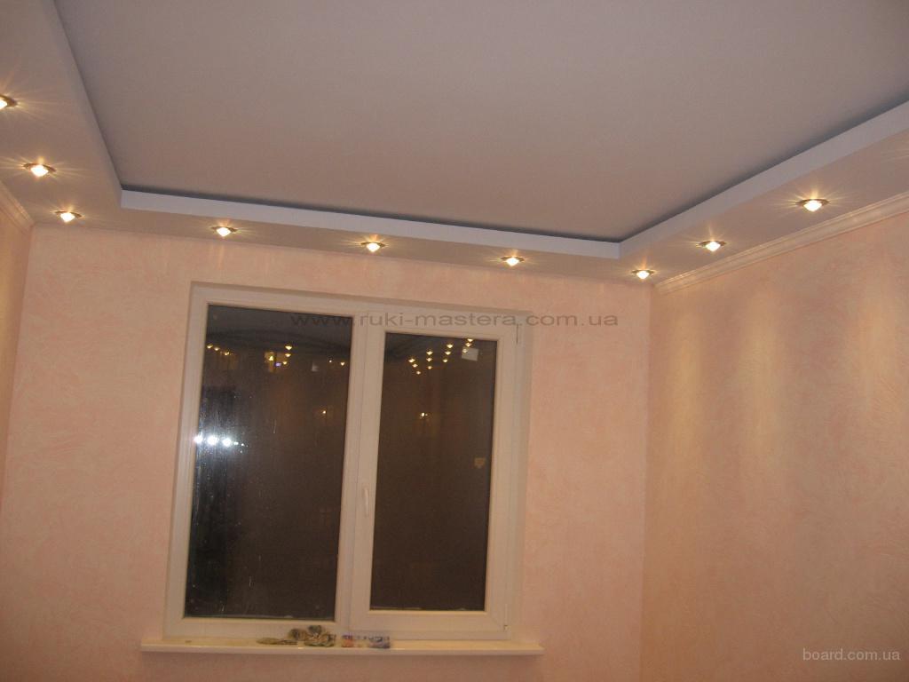 Двухуровневый потолок на кухне из гипсокартона своими руками
