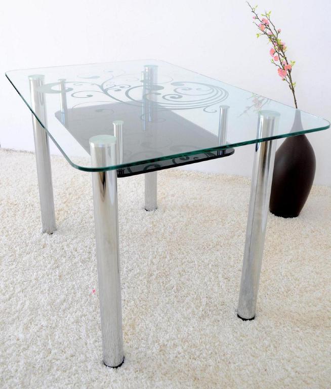 Деревянный круглый столик на одной