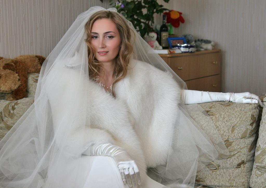 Меховые накидка для невесты