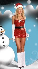 Сияющее новогоднее платье для Снегурочки