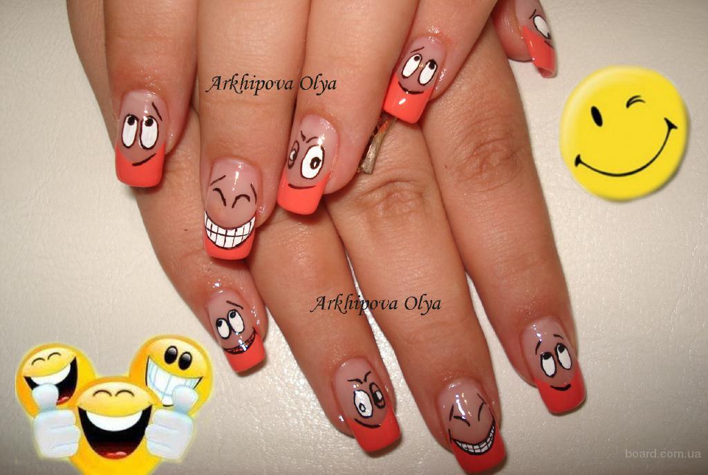 Дизайны на ногтях из акрила