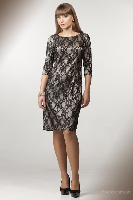 Трикотажные платья нарядные и