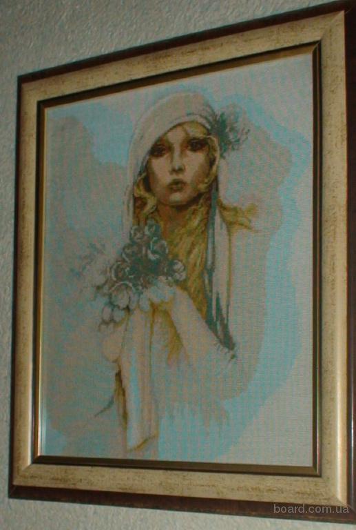продам : продам вишиті хрестиком картини,нитки DMC (французьке муліне)