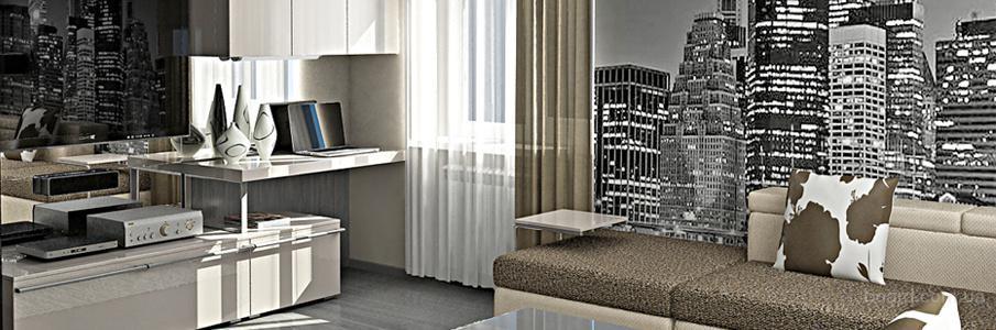 Дизайн большой квартиры в Донецке