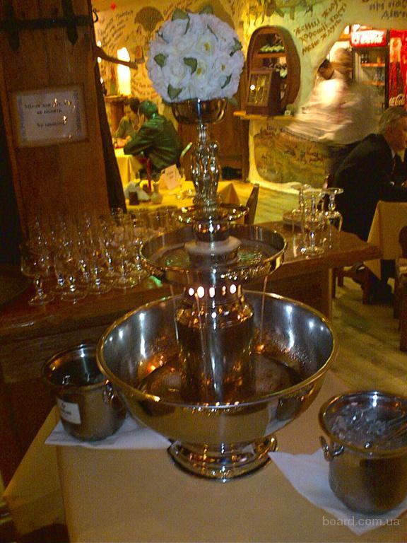 Шоколадный фонтан, фонтан для шампанского на праздник