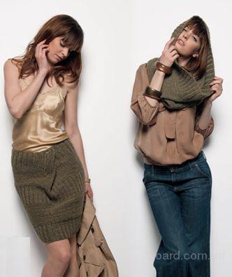 Стильный шарф снуд крупной вязки.