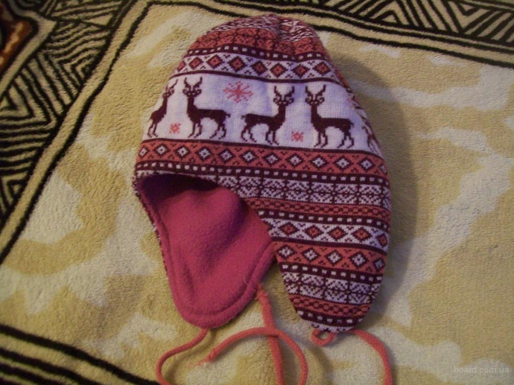 розовая вязанная шапка женская