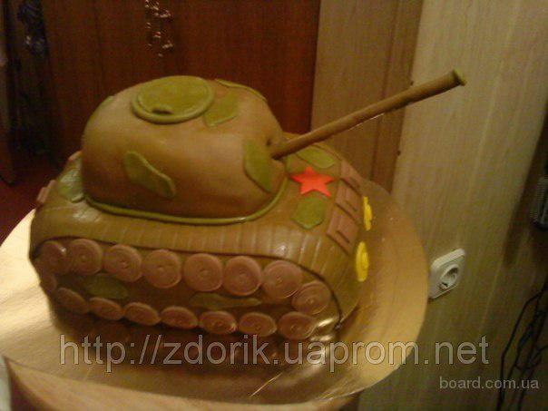 "Торт на ДР мальчика 12 лет "" Танк"""