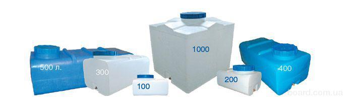 Квадратные емкости на 100 литров в синем исполнении очень удобны для.