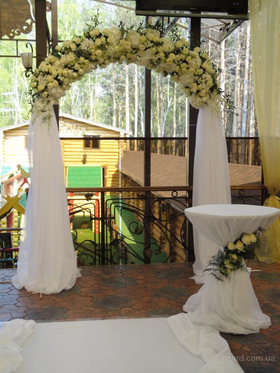 Свадебная арка из искусственных цветов своими руками