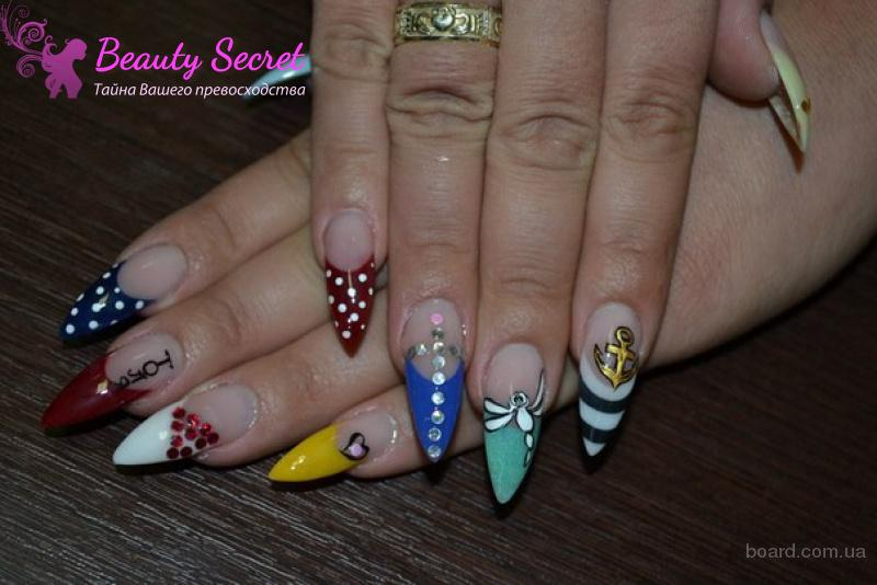 Наращивание ногтей в студии маникюра на м. Левобережная