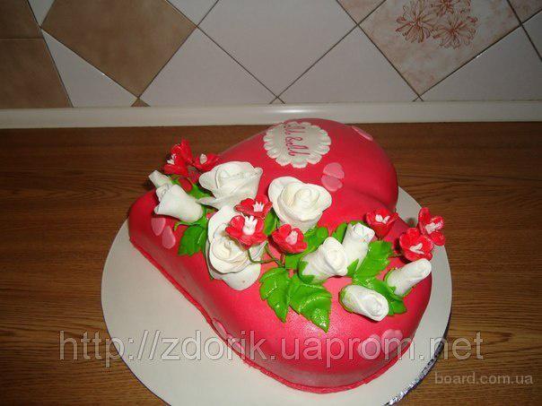 """Торт на годовщину семейной пары """"Сердце"""""""