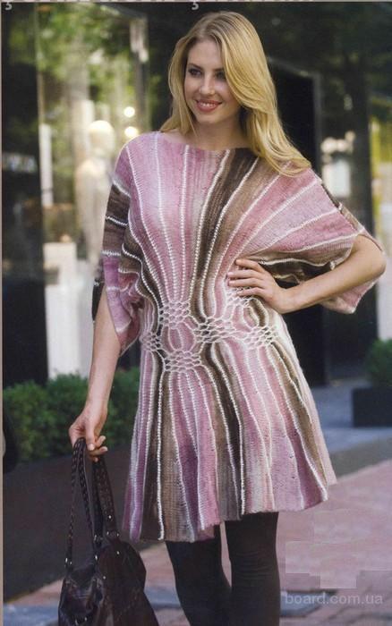 Вязаное платье Веер