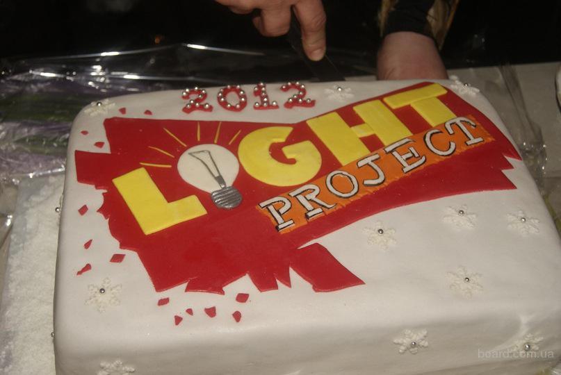 """Торт для молодежного служения """"Light progect"""""""