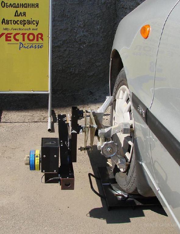 Переднее колесо с измерительной балкой