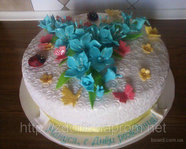 Праздничный торт на 16-ти летие девушки