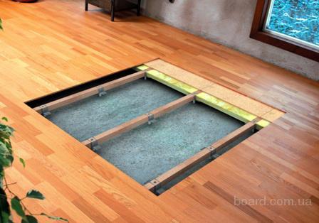 Регулируемый по высоте пол - прекрасная альтернатива бетонной стяжке.