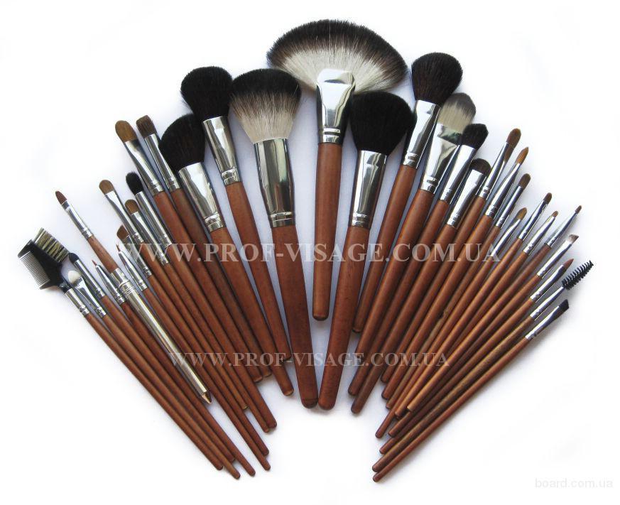 Набор кистей ПОНИ 5шт (кисти из волоса пони круглые №1,2,3,4,5 лакированная ручка гуммированные) С