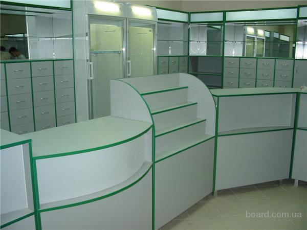 Мебель для аптек спроектируем и изготовим в  по индивидуальным проектам