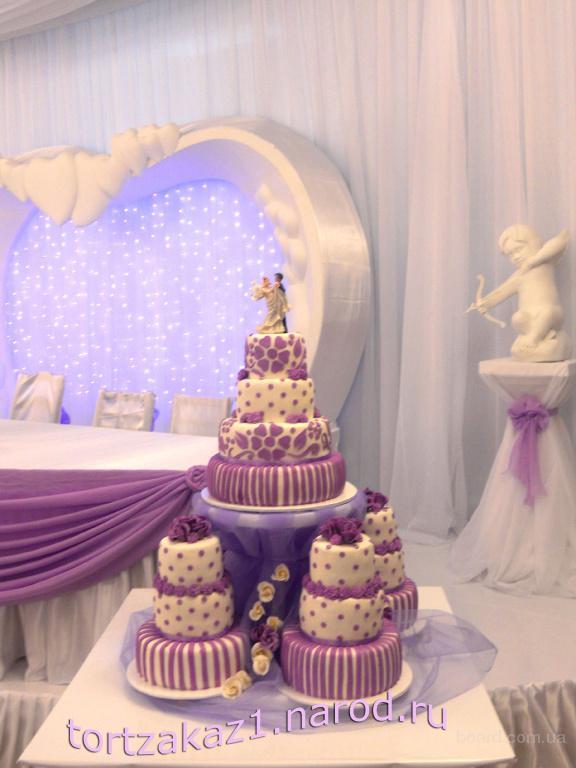 Свадебные торты и караваи на заказ