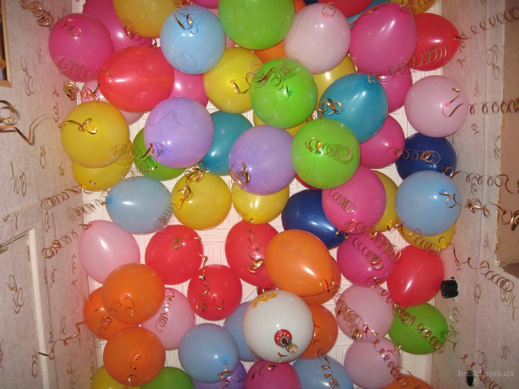 Оформление выпускного вечера шарами с