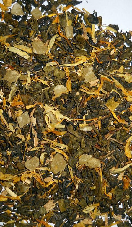 """Продам зеленый ароматизированный чай оптом от производителя """"Имбирь и ананас"""""""