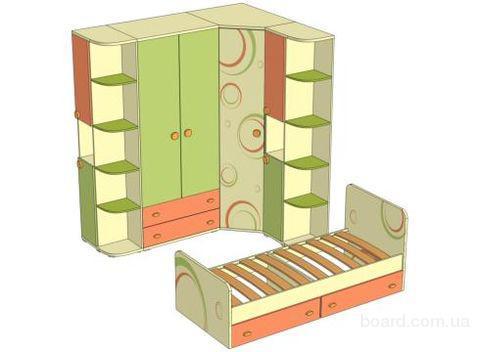 """Детская мебель  """"Фруттис """" безопасна, надежна, сочетает в."""