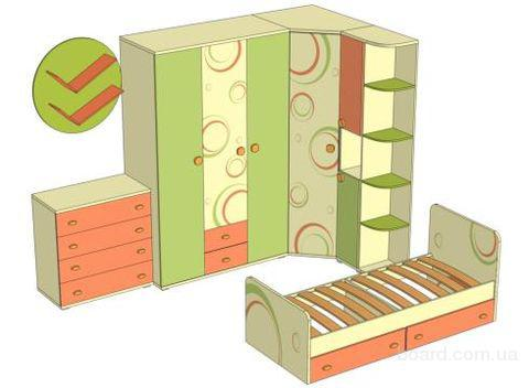 """Модульная мебель для детской  """"Фруттис """" - продукт нового поколения трансформирующейся мебели, которая служит местом..."""