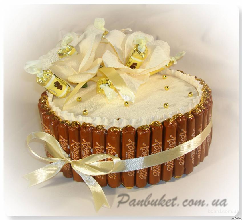 Торт на 50 лет женщине своими руками из конфет 61