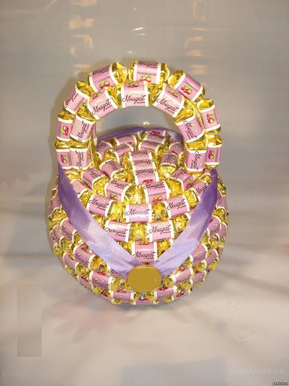 Гиря из конфет своими руками пошаговое фото