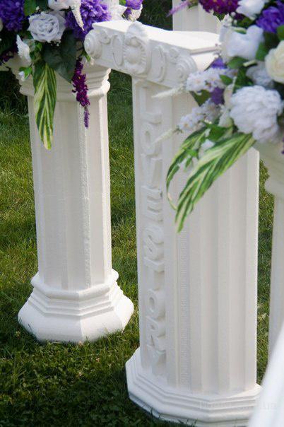 Как сделать свадебную колонну