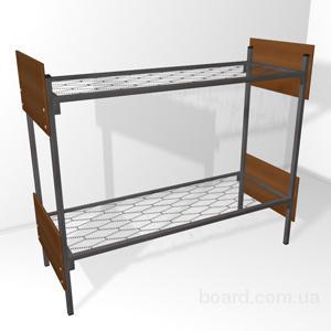 Кровати металлические двухъярусные для строителей, общежитий, казарм