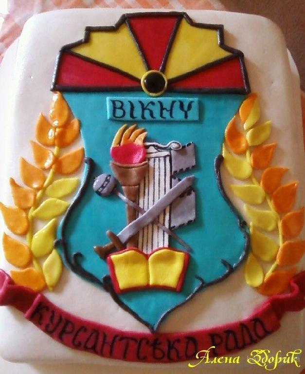 Торт с аппликацией герба