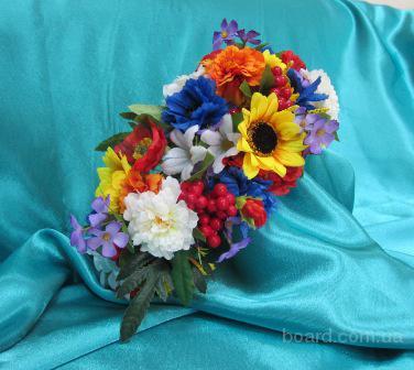 Украинский венок, венок из цветов, венок на голову, венок из полевых цветов