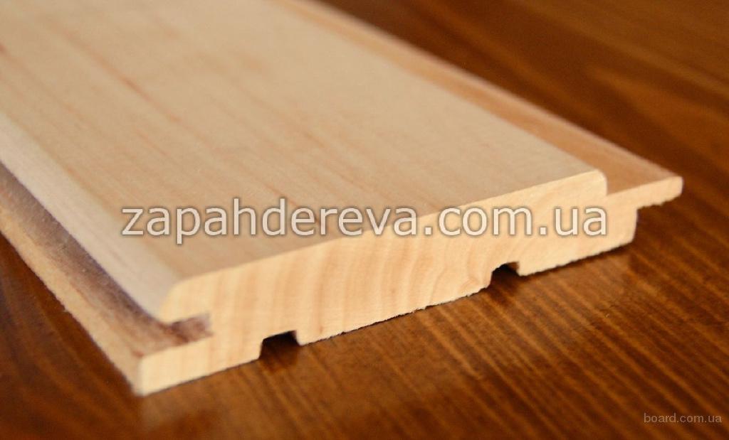 Вагонка деревянная для бани, сауны. Ольха лесная светлая