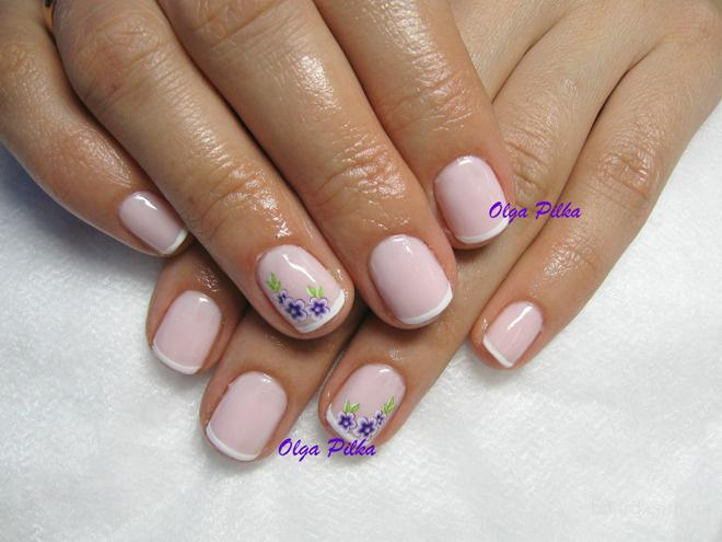 Рисунки шеллака на короткие ногти
