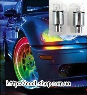 Светодиодный ниппель на автомобиль, купить светодиодные колпачки на ниппель автомобиля, подарок авто