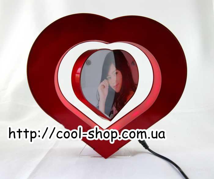 Магнитная фоторамка в форме сердца, купить магнитную фоторамку, необычный подарок девушке, фоторамка