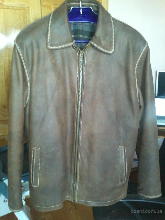 Продам зимнюю мужскую кожаную курточку (бычья кожа). продам.