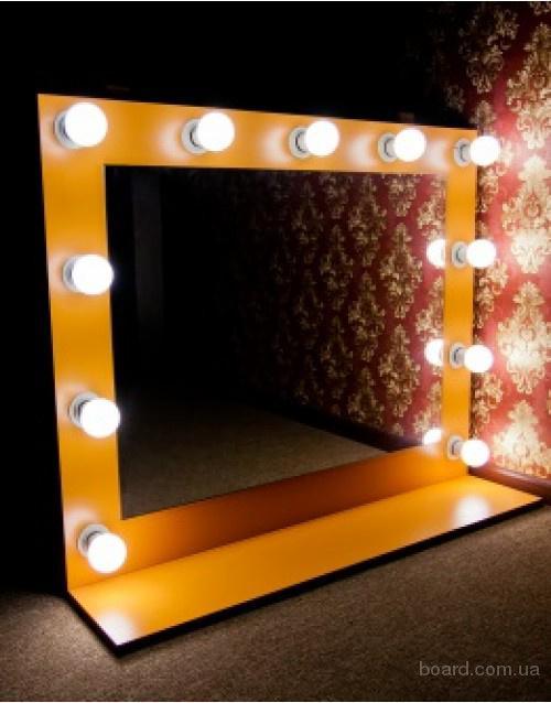 Сделать зеркало с лампочками 3