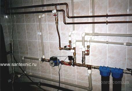 Горячее водоснабжение загородного дома схема.