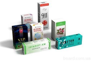 Упаковка фармацевтическая Киев для лекарств и биодобавок