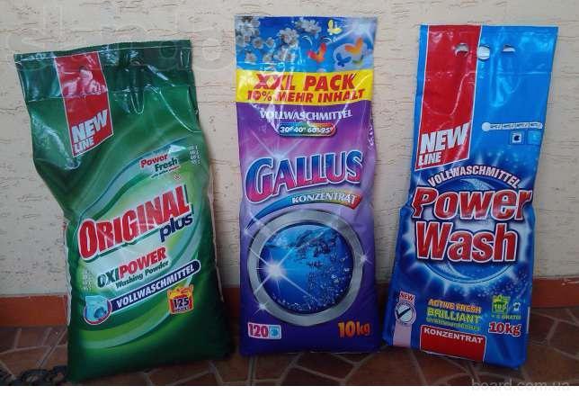 Стиральные порошки концентраты рower wash original gallus и др.10 кг.