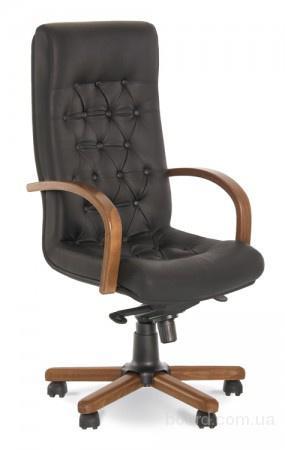 Кожаное кресло для офиса руководителя Fidel lux extra