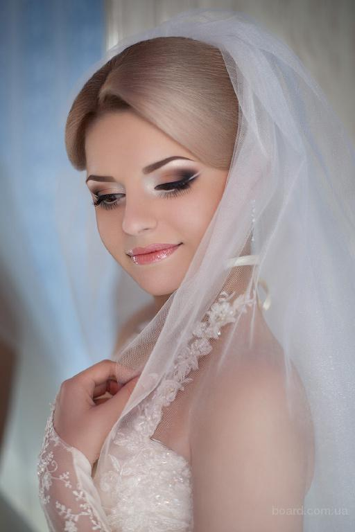 Макияж свадебные прически